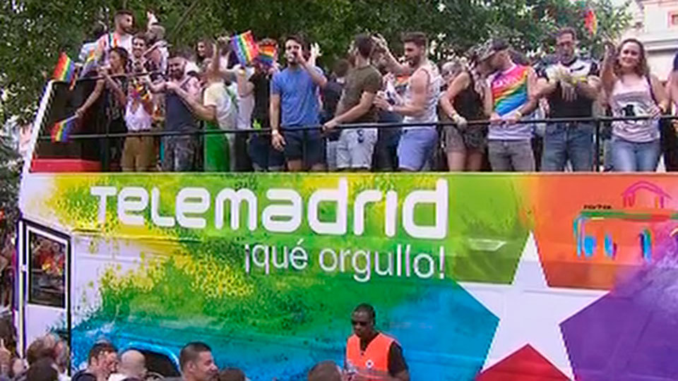 Carroza de Telemadrid en el World Pride 2017