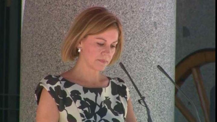 Cospedal recuerda que el Ejército tiene la misión de garantizar  la soberanía de España