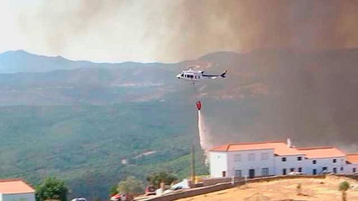 Desactivado el nivel 1 en el incendio de Riotinto, causado por la mano del hombre