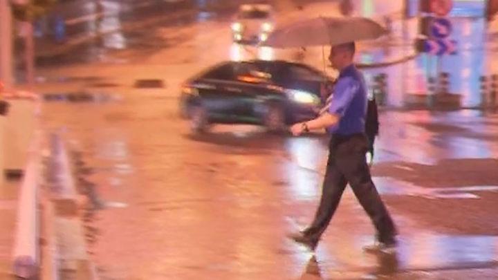 Las tormentas caídas esta noche refrescan la temperatura en Madrid