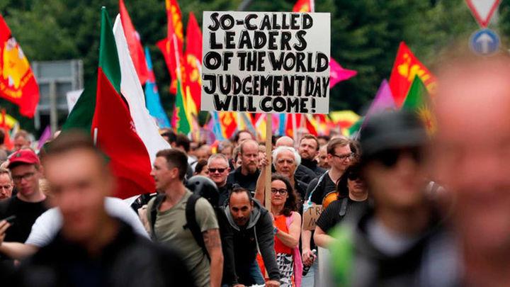 Unos 20.000 manifestantes en marcha pacífica contra el G20 en Hamburgo
