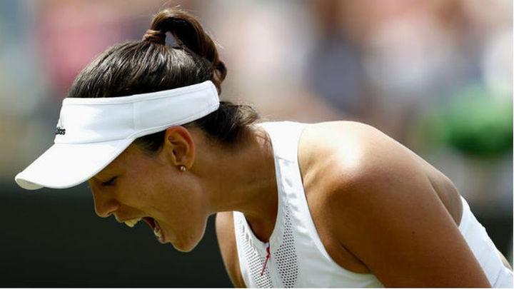 Muguruza se mete en los cuartos de Wimbledon