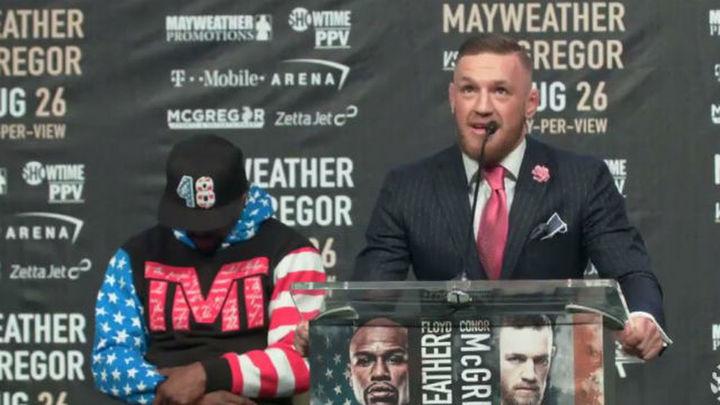 McGregor promete ganar en el cuarto asalto; Mayweather que le pateará el trasero