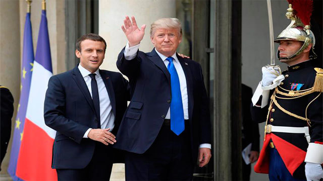 Macron y Trump en El Eliseo