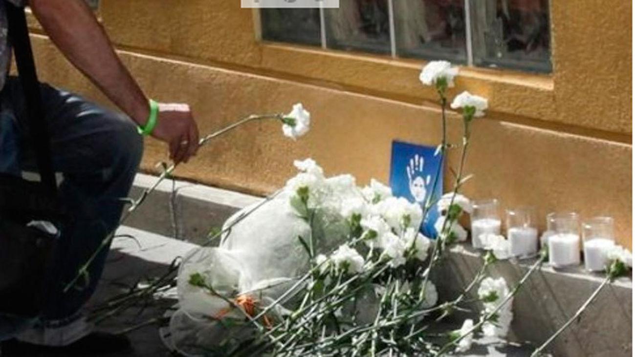 Queman la ofrenda del homenaje a Miguel Angel Blanco en Getafe