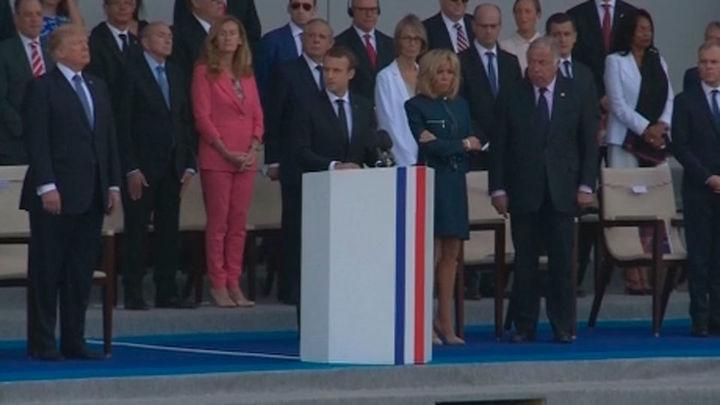 """Macron a Trump: """"Nada separará jamás"""" los lazos históricos de EEUU y Francia"""