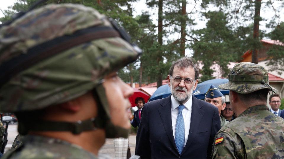 Mariano Rajoy visita a las tropas españolas desplegadas en Letonia