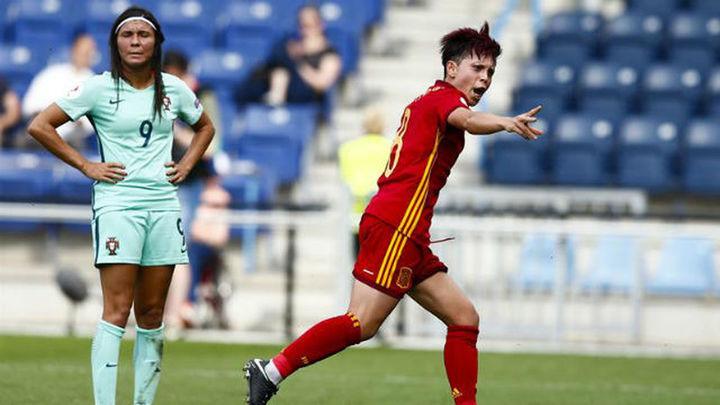 2-0. España se estrena con una plácida victoria ante Portugal