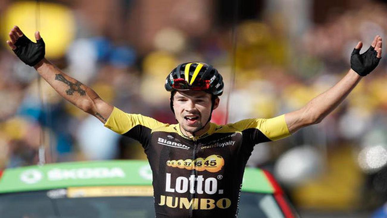 El ciclista esloveno Primoz Roglic, del equipo Lotto NL Jumbo