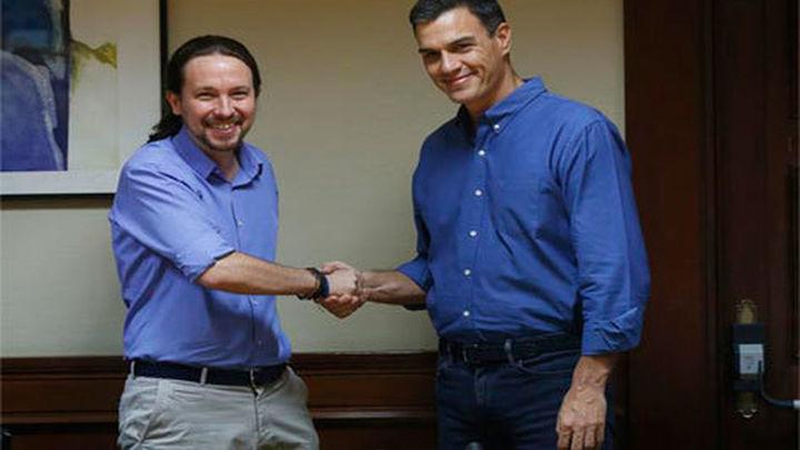 Sánchez e Iglesias piden juntos la comparecencia de Rajoy en pleno por Gürtel