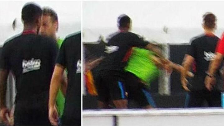 Neymar, a golpes con Semedo