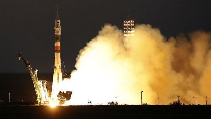 La nave tripulada rusa Soyuz MS-05 despega rumbo a la Estación Espacial Internacional