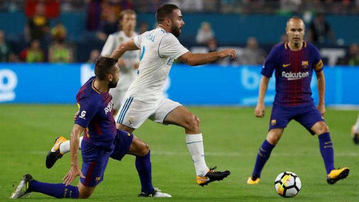 2-3. El Madrid cae ante el Barça en el clásico de Miami