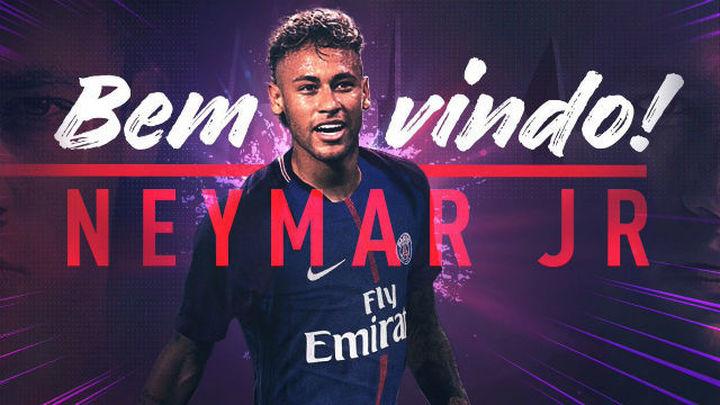 Neymar, nuevo jugador del PSG hasta 2022