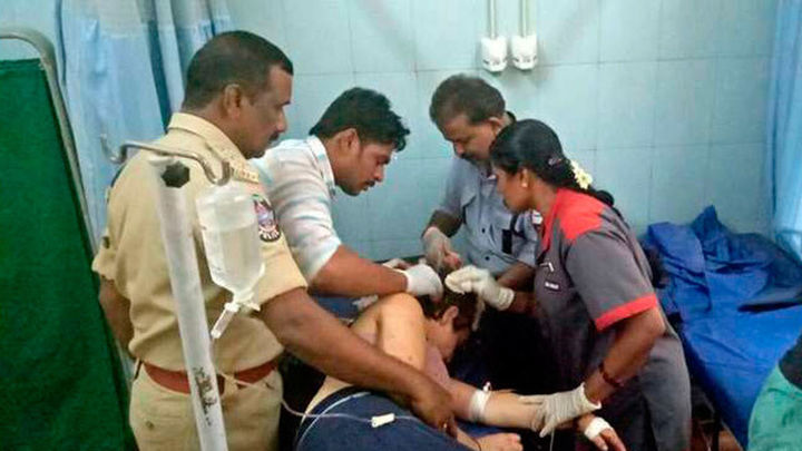 Siete de los heridos del accidente de la India llegan a Málaga este lunes