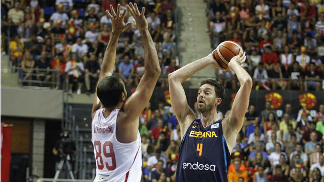 71-45: España arrolla a Túnez en su primer amistoso para el Eurobasket