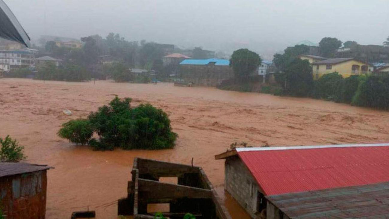 Desprendimiento de tierras en Sierra Leona