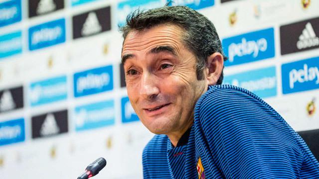 Valverde, entrenador del  FC. Barcelona