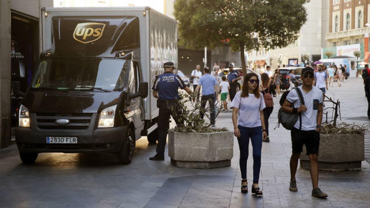 Madrid se blinda con maceteros y bolardos tras los atentados de Cataluña