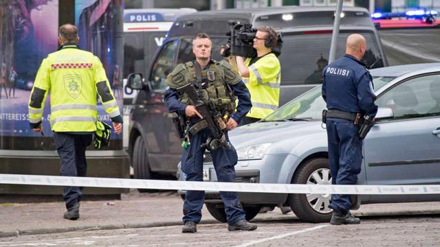 Un hombre acuchilla a varias personas en una plaza de una ciudad finlandesa