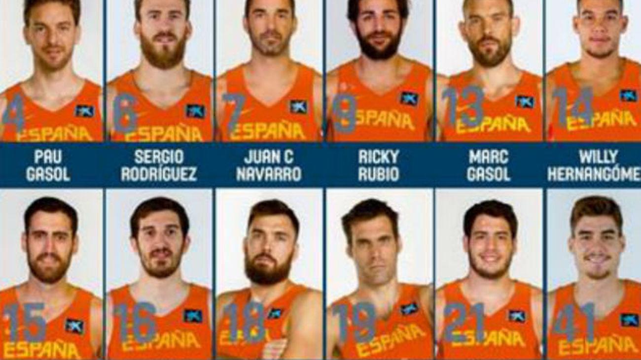 Los doce elegidos para el Eurobasket 2017