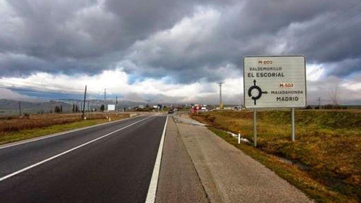La M-600 mejora su asfaltado y aumenta la seguridad en el acceso a San Lorenzo de El Escorial