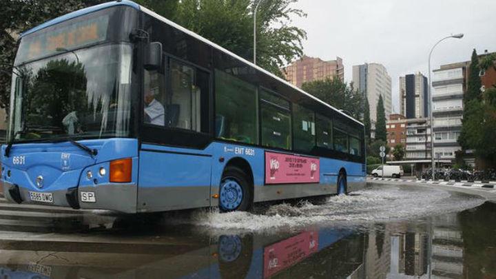 Madrid recomienda usar hoy el transporte público por las lluvias