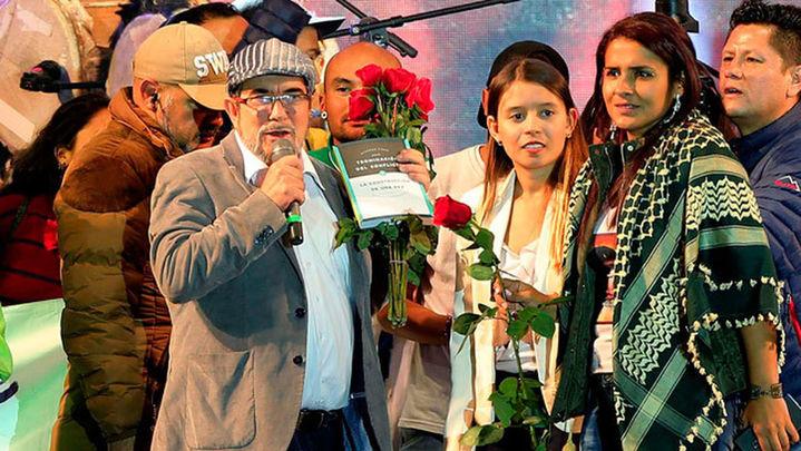 Las FARC se presentan como partido con un mensaje de reconciliación a toda Colombia