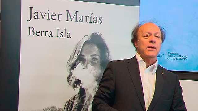 Javier Marías en la presentación de su nueva novela