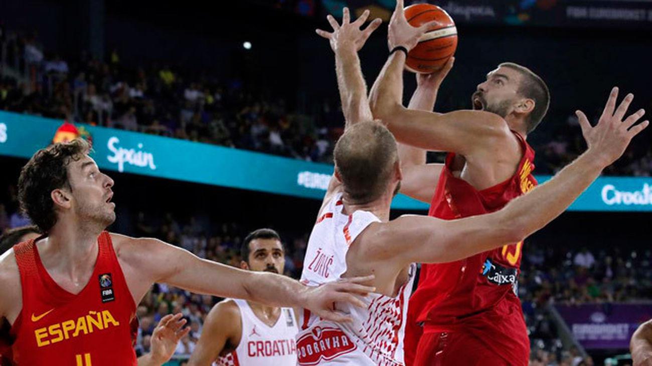 73-79. España vence con mucho sufrimiento a Croacia