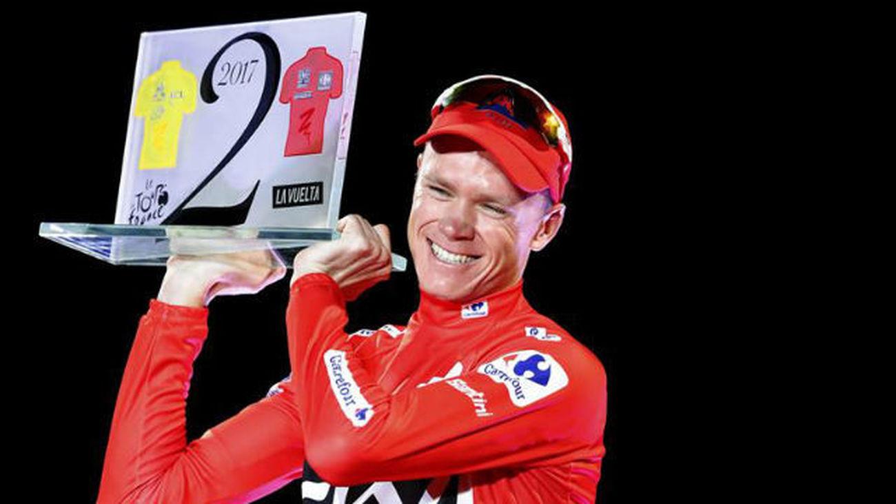 Froome celebra en Madrid su primera Vuelta en la despedida a Contador