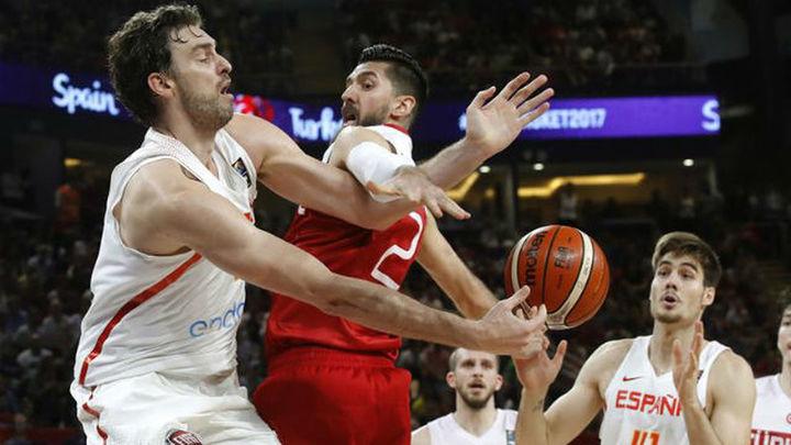 73-56. España suda su pase a cuartos ante una correosa Turquía