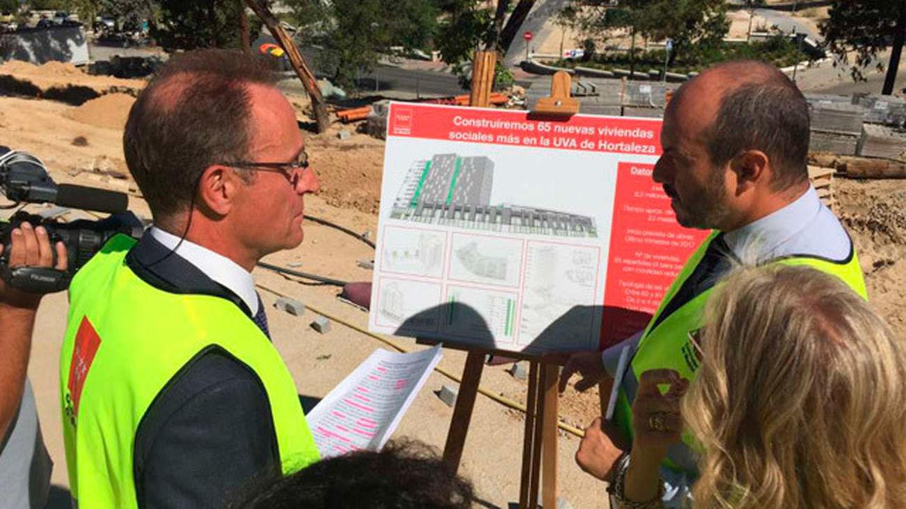 Rollán anuncia la construcción de 65 viviendas en la UVA de Hortaleza