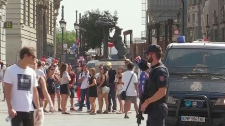 Más bolardos y mapa de zonas concurridas en Madrid, medidas contra atentados