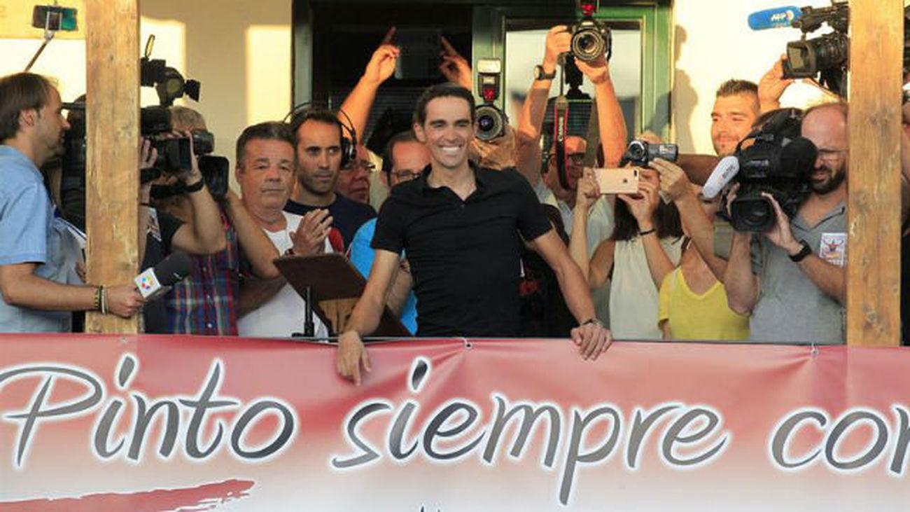Contador, homenajeado en Pinto