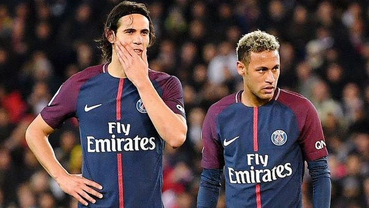 Guerra en el PSG entre Neymar y Cavani