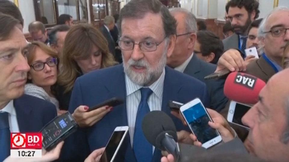 Mariano Rajoy en los pasillos del Congreso