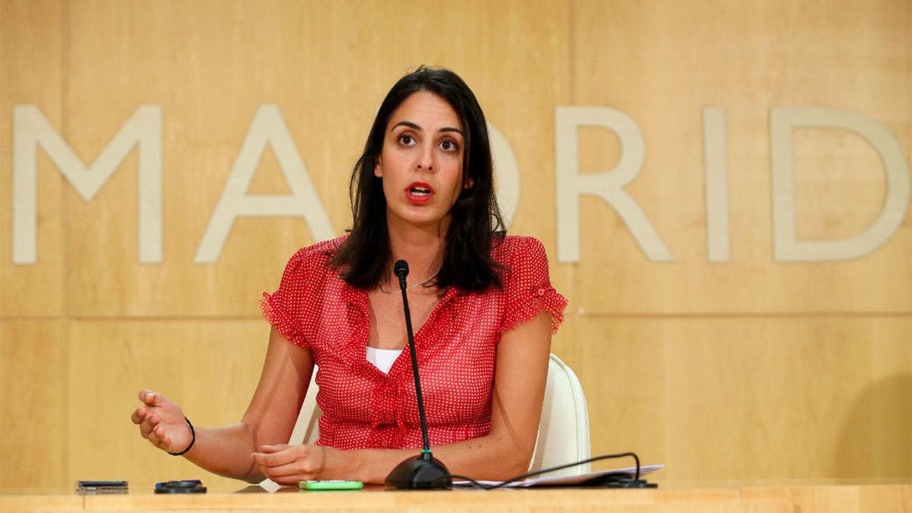 Rita Maestre en una rueda de Prensa