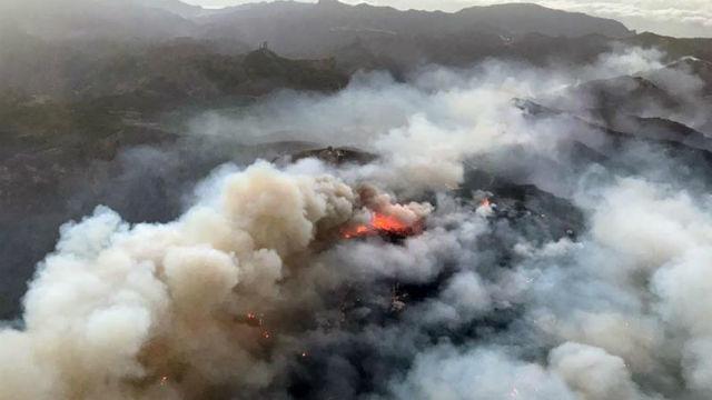 Incendio de Gran Canarias