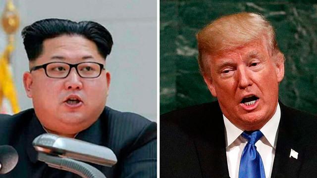 El líder norcoreano Kim Jong-un y del presidente de Estados Unidos, Donald Trump