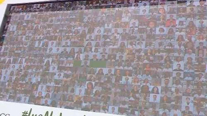 Mosaico de fotografías y luces para celebrar el Día Mundial de la Investigación en Cáncer