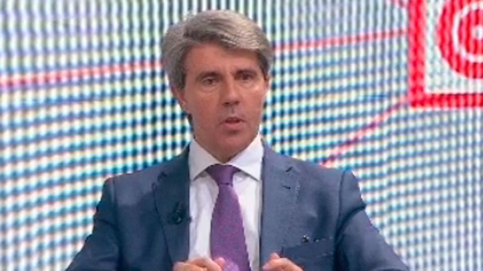 Ángel Garrido durante la entrevista en el programa El Círculo de Telemadrid