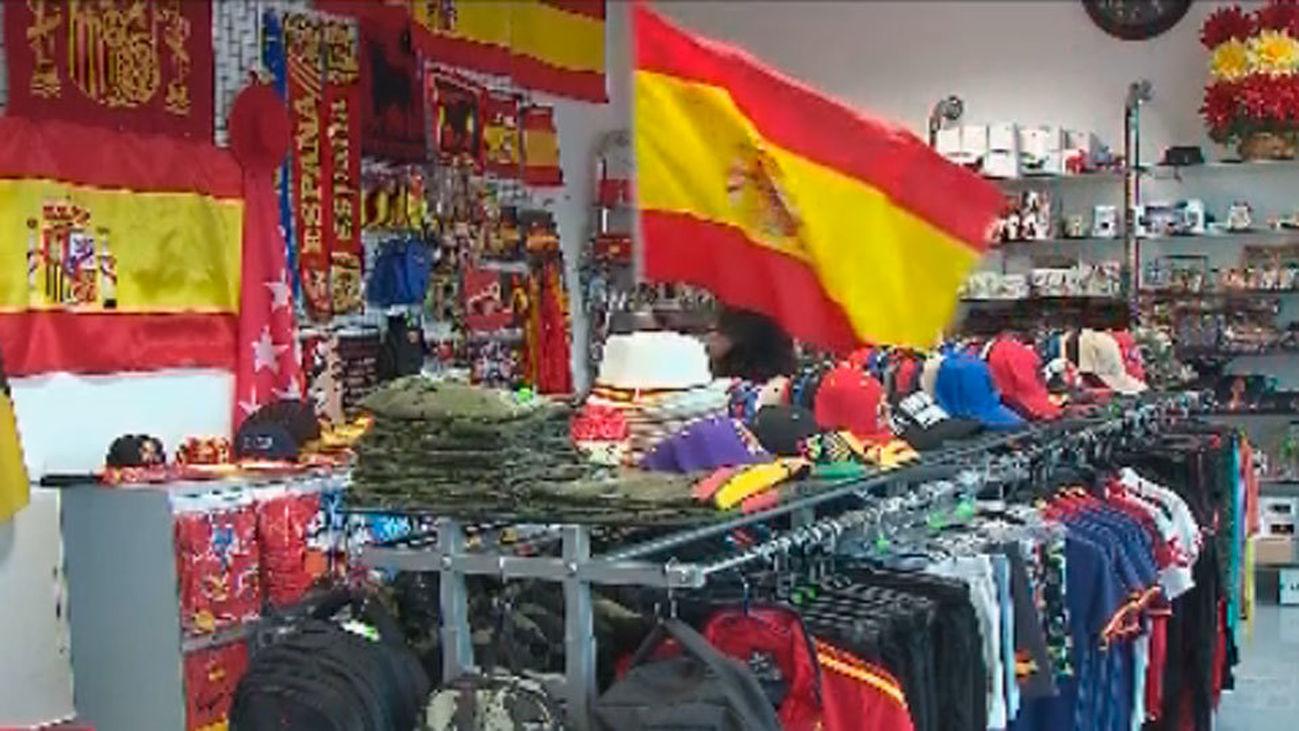 Aumentan las ventas de banderas de España