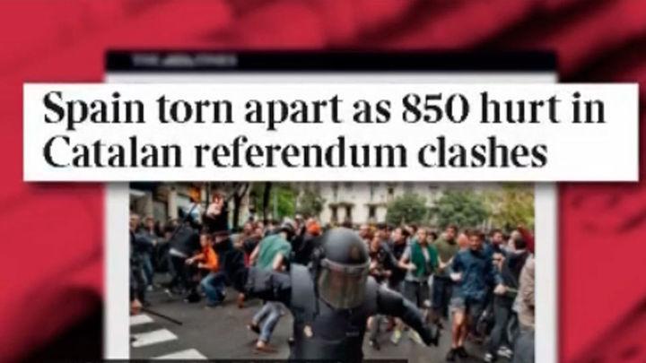 La Prensa internacional se centra en las cargas policiales y no en la ilegalidad