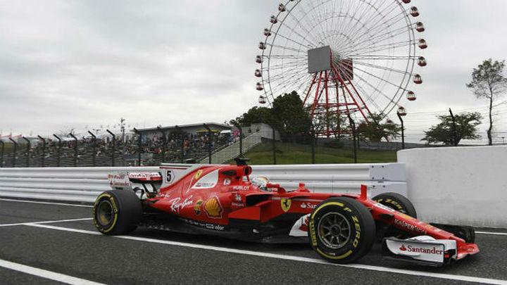 GP Japón: Vettel domina en seco y Hamilton en mojado