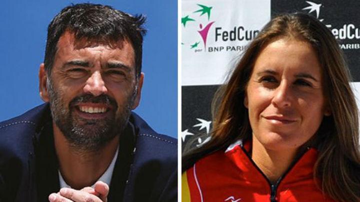 Sergi Bruguera y Anabel Medina, capitanes de Copa Davis y Federación