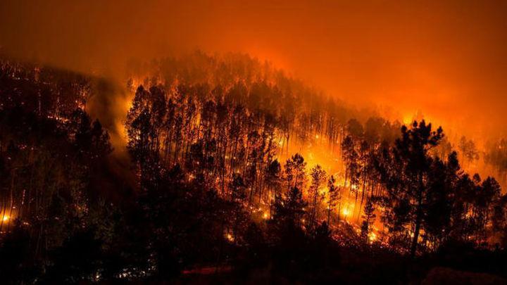 Galicia registra 11 incendios en la provincia de  Ourense, tres en la de Lugo y otro en la de Pontevedra
