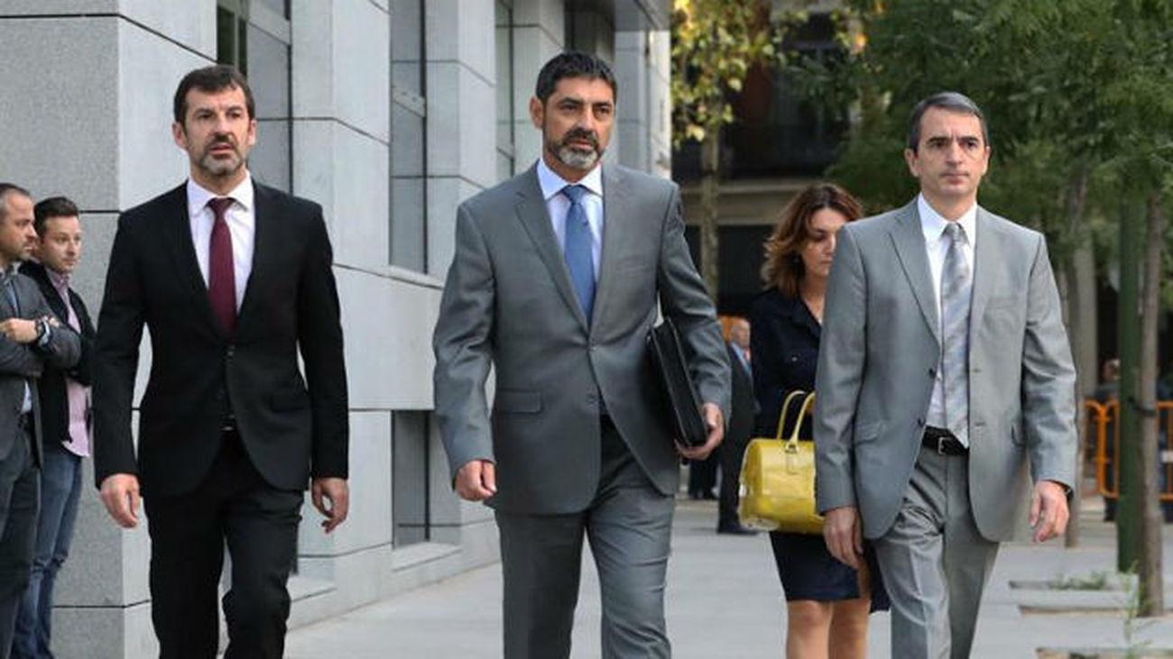 Trapero, Sànchez y Cuixart vuelven este lunes a declarar en la Audiencia Nacional