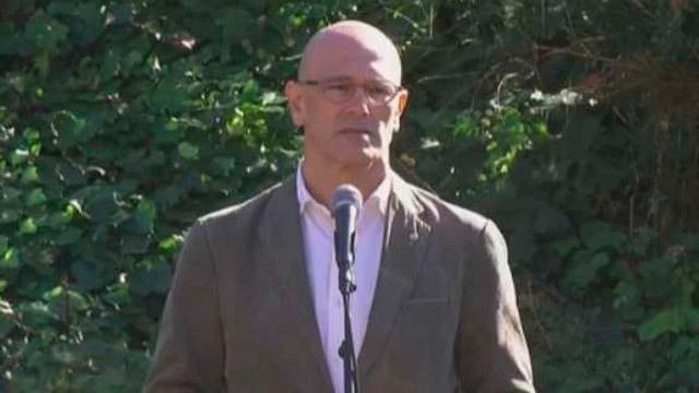 El conseller de Exteriores, Relaciones Institucionales y  Transparencia de la Generalitat, Raúl Romeva