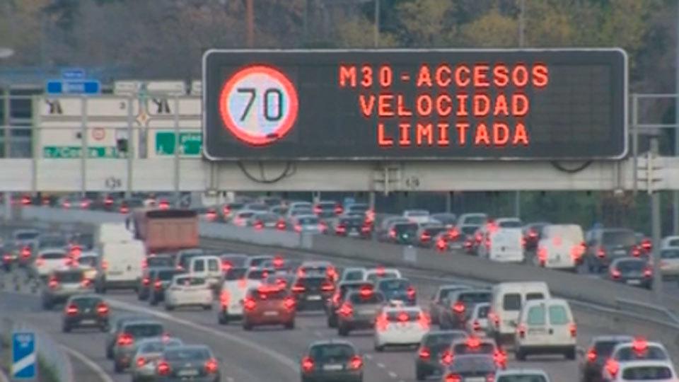 Madrid limita de nuevo la velocidad a 70 km/hora en la M-30 y accesos